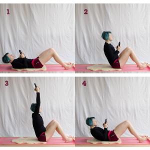Kettlebell Workout zuhause, curl, crunch, abs, core , Kugelhantel, Fitness mit dem Kettlebell, Kettlebell für Frauen, fit sein, abnehmen