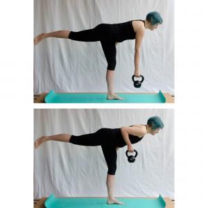 Kettlebell Workout zuhause, deadlift, Kugelhantel, Fitness mit dem Kettlebell, Kettlebell für Frauen, fit sein, abnehmen