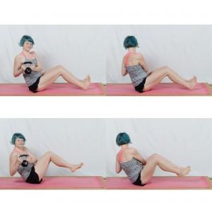 Kettlebell Workout zuhause, russian twist, Kugelhantel, Fitness mit dem Kettlebell, Kettlebell für Frauen, fit sein, abnehmen
