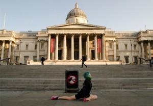 London, Trafalgar Square, National Galler,y Morgensonne, August, Sonnenaufgang, Hauptstadt, London am morgen, Joggen, joggen in London, laufen, Fitness im Urlaub