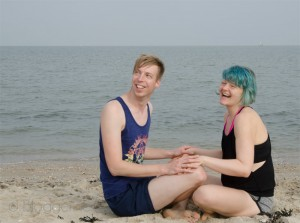 Yoga, Strand, Wattenmeer, Nordsee, Yoga am Strand, Paar