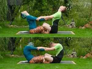 Partneryoga, Acroyoga, Yoga, yoga mit Partner, Aufwärmen, warm up, dehnen, stretchen, Übungen, Aufwärmübungen, Yoga, katze und Kuh, cat, cow