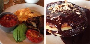Inn the park, London, St. James Park, Restaurant, vegetarisch essen, Vegetarier, Städtetrip, traditionelles Frühstück, Pancakes, Schokosoße