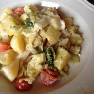 Vegtarisch, kochen, vegetarisch essen, Rezept, Wirsing, Kartoffel, Tomate, vegetarische Rezepte, Herbstgericht, Ofengericht, selber kochen