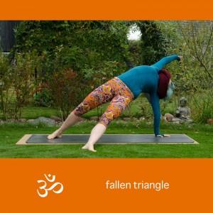Yoga, Yogapose, Yogaposition, Asana, fallen triangle, revolved leg to the side pose dedicated to sage vasistha, parsva pada vasisthasana, stretch