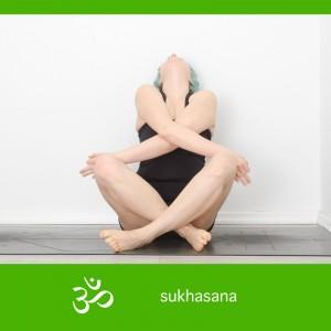 sukhasana, easy seat, mudra, einfache Sitzposition mit Mudra, yoga, yogapose, asana, yogi, meditation, rückbeuge, backbend