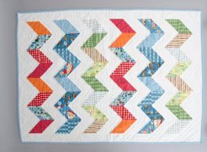 Babyquilt, quilt, Geburt, Taufe, Mädchen, Junge, Zickzack, zigzag quilt, weiß, unisex, quilten