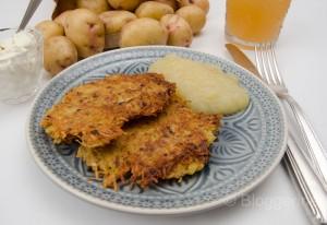 vegetarisch kochen, Vegetarier, Rezept, kochen, einfach kochen, Kartoffelpuffer, Reibekuchen, Apfelmus