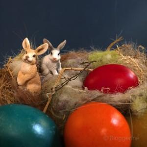 Ostern, Osterbrunch, Kaffeetafel, Ostersonntag, Ostermontag, Kuchen, Hasen, Eier, Vintage