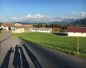 Yoga Vidya Maria Rain bei Oy/Mittelberg im Oberallgäu Blick auf die Berge