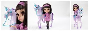 Margo travelling blythe, margo, blythe, doll, blythelove, dolllove, Einhorn, lila, türkis, Puppe