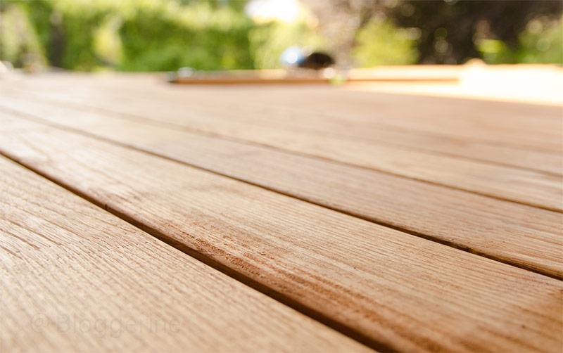Terrasse, Terrassenneubau, Holzdeck, Holzdielen, selbermachen, diy, Garten, Robinie, Robinienholz, Amber, Bernstein, Holzöl