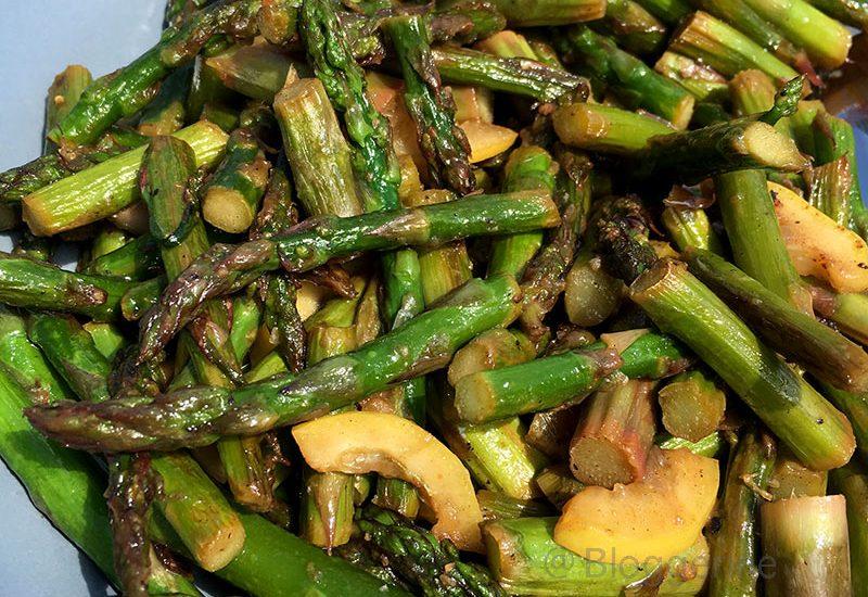 Rezept, grüner Spargel, Spargelsaison, Spargelrezept, schnelle Küche, einfache Küche, Zitrone, Sommergericht