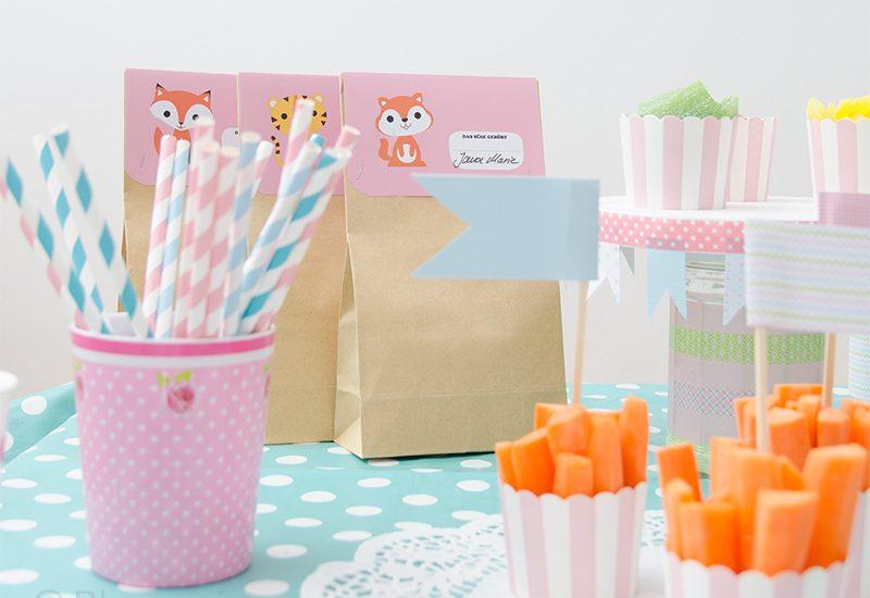 Kindergeburtstag, Geburtstag, Picknick, Sommer, Snack, Möhren, GiveAwayTüte, Mitbringsel
