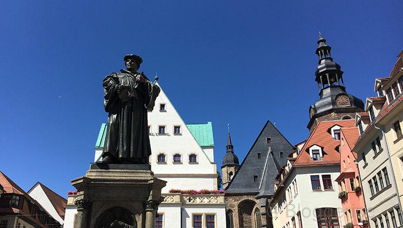 Mansfelder Land, Eisleben, Lutherstadt Eisleben, Martin Luther, Lutherdenkmal, Marktplatz
