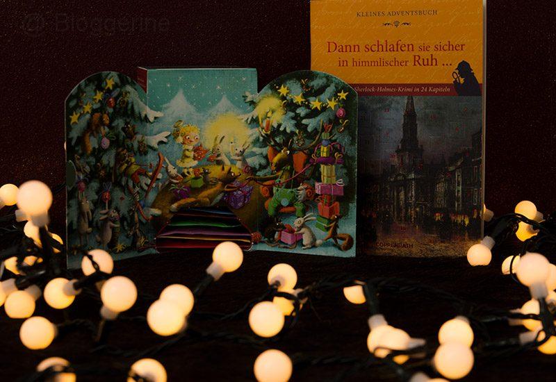 Adventskalender, Erwachsene, Frau, Tee, Adventsbuch, Adventskalenderbuch, relaxen, lesen, Buch, Teebeutel, Sherlock Holmes, Krimi in 24 Teilen