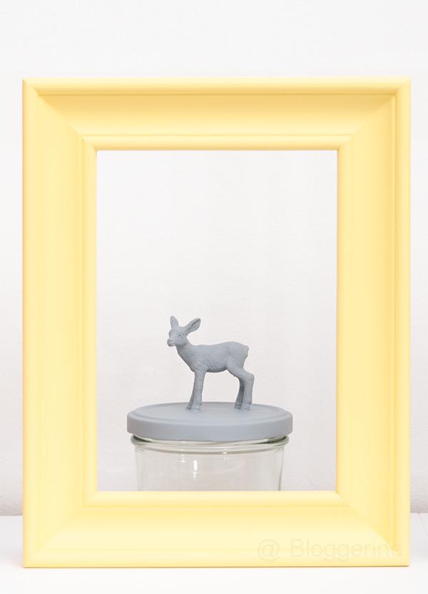 diy, selber machen, basteln, Einmachglas, Tierfigur, Aufbewahrung, Geschenkverpackung, Reh, Eichhörnchen, Hase, grau, rosa, gelb