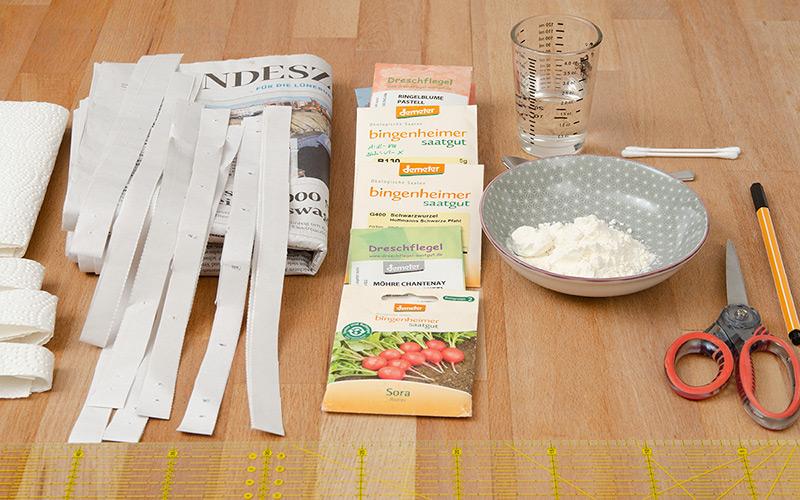 diy, selber machen, anleitung, howto, selbst herstellen, saatband, saatbänder, aussäen, Saat, vereinzeln, pikieren