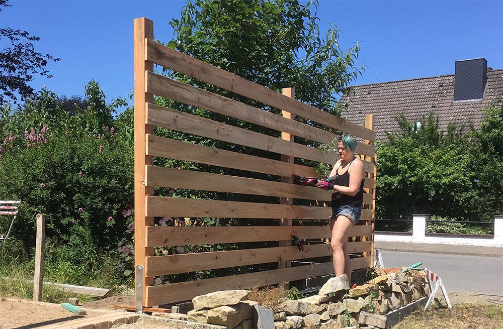 Gartenzaun, Zaun, Lattenzaun, Bretterzaun, Sichtschutzzaun, Holzzaun, selber machen, diy