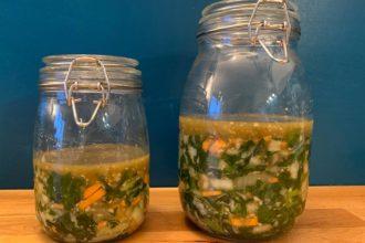 Kimchi, fermentiertes Gemüse, Gemüse haltbar machen, fermentieren, Kim chi, gimchi, Mangold, Rezept, Beilage, vegan, Salat, vegetarisch