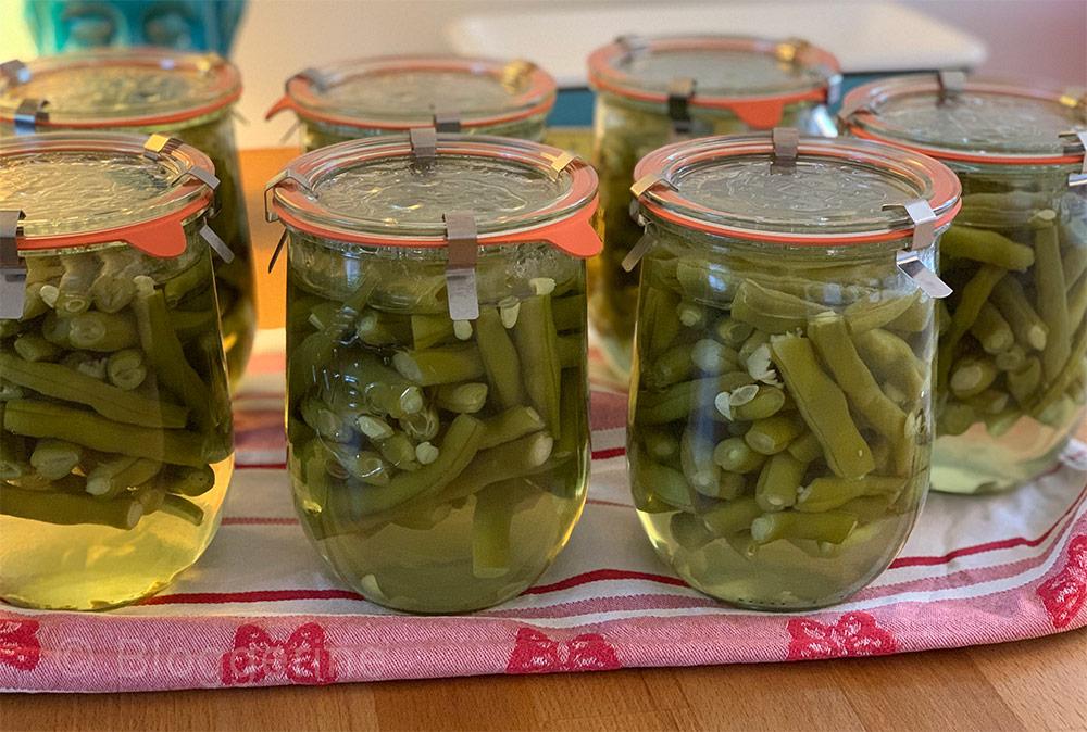 Bohnen, einkochen, einwecken, einmachen, haltbar machen,Gartenbohnen, Stangenbohnen, Gemüse, Gemüsegarten, Selbstversorger