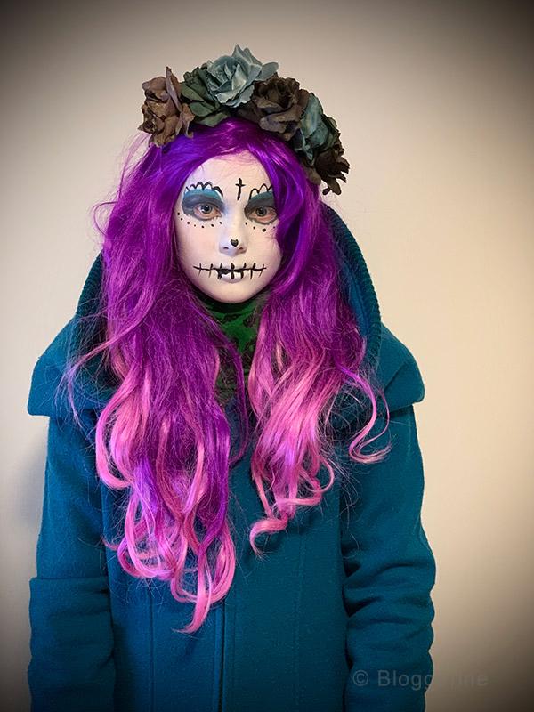 Happy Halloween, Halloween, Creepy, Kostüm, Dia de los Muertos, Tag der Toten, Skull, Sugar Skull