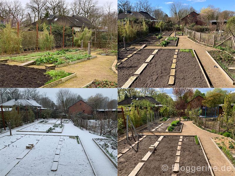 Gemüsegarten März und April
