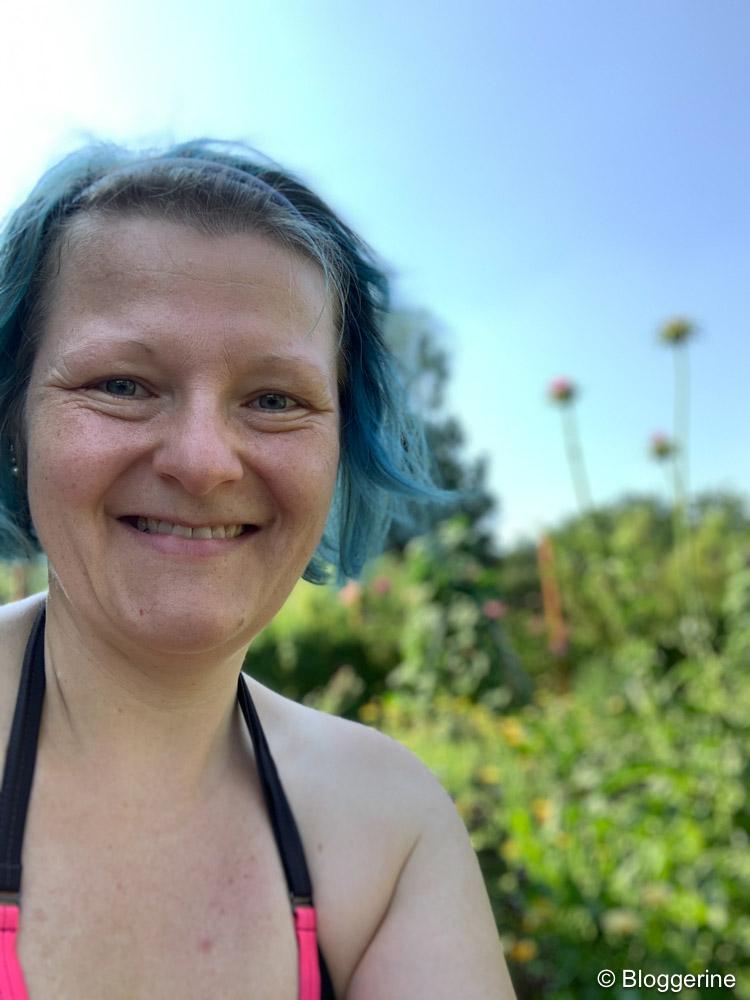 Bloggerine im Garten