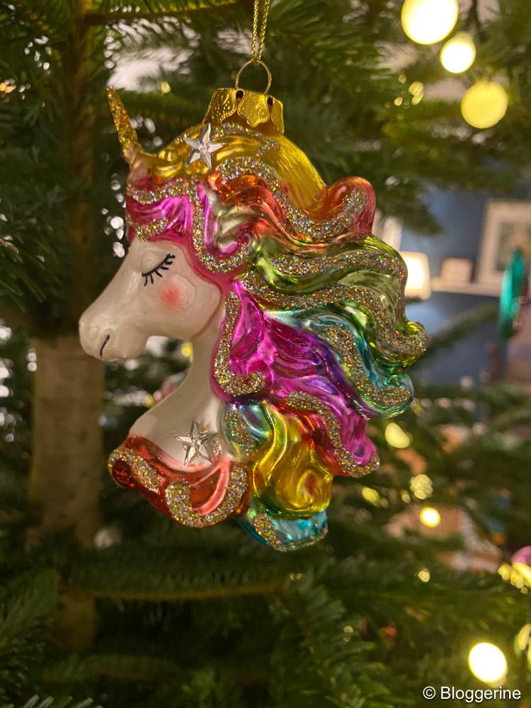 Einhorn als Weihnachtsbaumschmuck